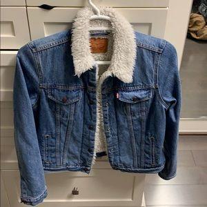 Levi's fur denim jacket